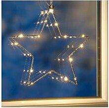 Benelando LED Weihnachtsstern Fenstersilhouette