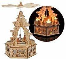 Benelando® Weihnachtspyramide aus Holz für 4