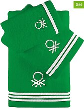 Benetton - 3tlg. Badtextilien-Set in Grün