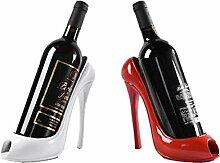 BENHAI 1 STÜCK Weinregal Umweltfreundliche Praktische Skulptur Weinregale High Heel Schuh Flaschenregal Wein Wein Halter Dekoration Zubehör High heels schuh Weinregal (rot)