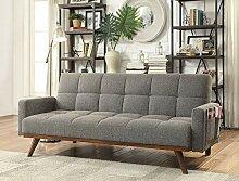 Benjara Benzara Futon-Sofa, gepolstert, getuftet,