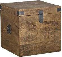 Benjara BM195668 Aufbewahrungskiste aus Holz,