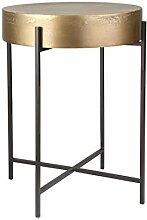 Benjara Metalltisch mit rundem Tisch,