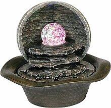 Benjara Tischbrunnen mit Sockel aus Polyresin,