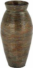Benjara Vase aus lackiertem Bambus mit Urnenform