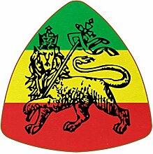 Bennigiry Äthiopische Flagge Leder Untersetzer