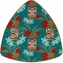 Bennigiry Aloha Tiki Tropische Leder Untersetzer