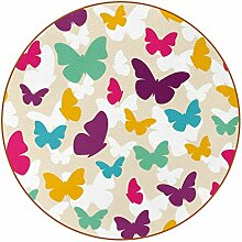 Bennigiry Bunte Schmetterlinge Muster Leder