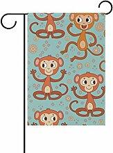 bennigiry Expressions Monkey Polyester Garten