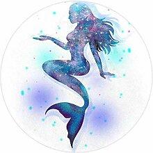 Bennigiry Fantasy Meerjungfrauen-Teppich, weich,