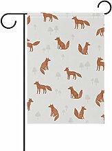 bennigiry Fox Muster Polyester Stoff Garten