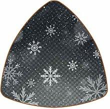 Bennigiry Graue Schneeflocke Leder Untersetzer