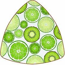Bennigiry Grüne Kiwi- und Limettenscheiben Leder