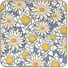 Bennigiry Handgezeichnete Lilien-Muster Gelb Leder