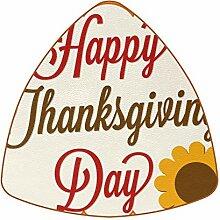 Bennigiry Happy Thanksgiving Day Sonnenblume Leder