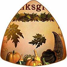 Bennigiry Happy Thanksgiving Leder Untersetzer