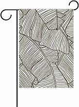 bennigiry Holz Polyester-Textur-Garten Flagge,