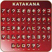 Bennigiry Japanische Sprache Katakana Alphabet Set