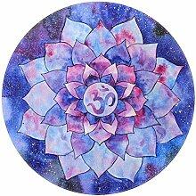 Bennigiry Mandala-Teppich, weich, rund, modern,