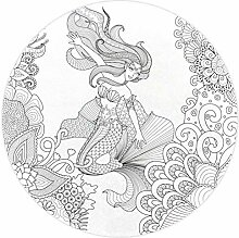 Bennigiry Meerjungfrauen-Teppich, handgefertigt,