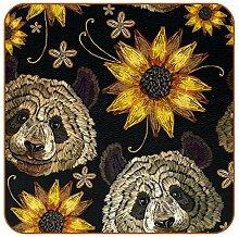Bennigiry Niedlicher Panda Sonnenblumen-Muster
