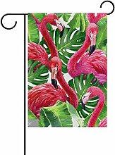 bennigiry Polyester-Flamingo-Garten Flagge,