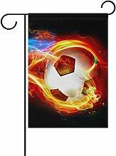 bennigiry Polyester-Fußball-Garten Flagge,