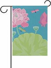 bennigiry Polyester-Libelle-Garten Flagge,