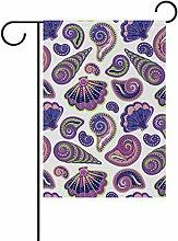 bennigiry Polyester-Muscheln-Garten Flagge,