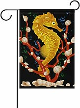 bennigiry Polyester-seahors-Garten Flagge,