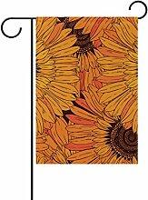 bennigiry Polyester-Sonnenblumen-Garten Flagge,