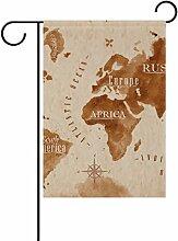 bennigiry Polyester-Weltkarte-Garten Flagge,