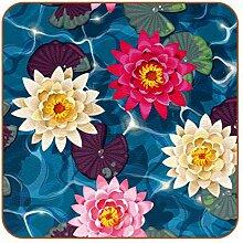 Bennigiry Schöne Lotus Blue See Water Leder