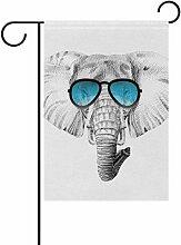 bennigiry Sketch Afrika Elefant Sonnenbrille Deko