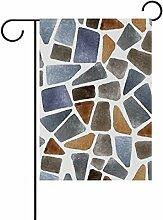 bennigiry Stein Polyester-Textur-Garten Flagge,