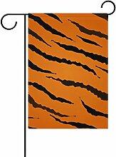 bennigiry Tigre Polyester-Textur-Garten Flagge,
