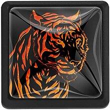Bennigiry Türknauf, Tiger, quadratisch,