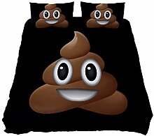 Bennigiry UK Doppelbettgröße Happy Funny Poop
