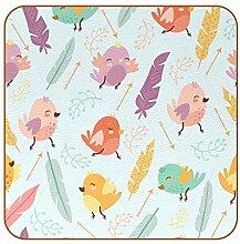 Bennigiry Untersetzer aus Leder mit Vögeln und
