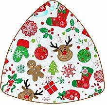 Bennigiry Weihnachtsmuster Leder Untersetzer