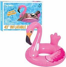 Benross 82520 Schwimmring, aufblasbar, Flamingo,