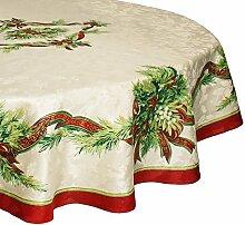Benson Mills Weihnachtliche Stoff-Tischdecke,