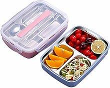 Bento Box Brotdose aus Edelstahl mit Deckel für