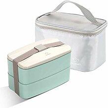 Bento Box Brotdose Tragbare Doppelschichten