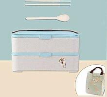 Bento Box Lunchbox Gesunde Weizenstroh Brotdose