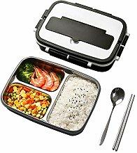 Bento Box Lunchbox mit 2 Fächern, Edelstahl für