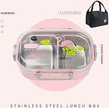 Bento Box Tragbare Edelstahl-Brotdose Mit Fach