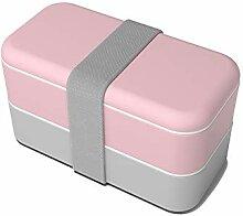 Bento Boxen,Brotdose, Brotdosenbehälter 2-lagig
