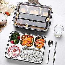 Bento-Brotdose mit 5 Fächern, quadratischer,