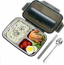 Bento Lunchbox mit 3 Fächern, isoliert,